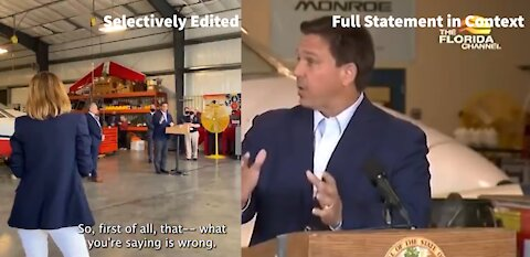 "DECEPTION: What ""60 Minutes"" Showed vs. What DeSantis ACTUALLY Said"