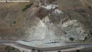 ITD releases drone video of landslide explosion