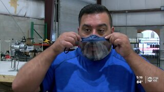 Man makes masks to help people communicate