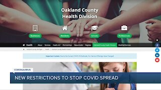 New restrictions to stop COVID spread