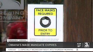 Omaha's mask mandate ends