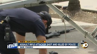 Assault rifle attacker shot and killed by police