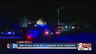New details after two Claremore police standoffs