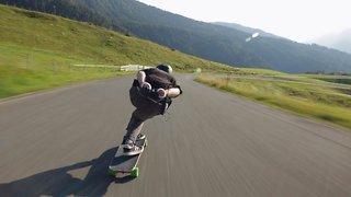 Speed Freak Longboards Through Beautiful European Alps
