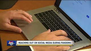 Reaching out on social media during pandemic