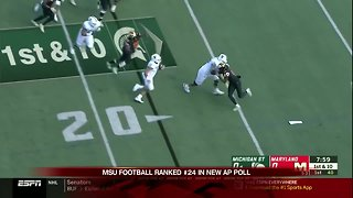 Connor Heyward scores 2 TDs as Michigan State beats Maryland