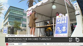 County prepares for record voter turnout
