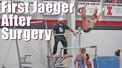 First Jaeger after Elbow Surgery | Whitney Bjerken Gymnastics