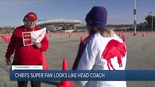 Chiefs super fan looks just like head coach