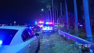 Driver hospitalized after vehicle plunges into water off Courtney Campbell Causeway