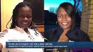 Son accused of killing mom in Detroit