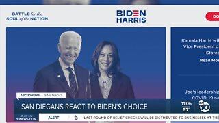 Reaction to Joe Biden's announcement