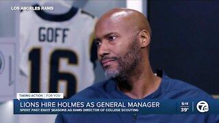 Lions hire Brad Holmes as GM