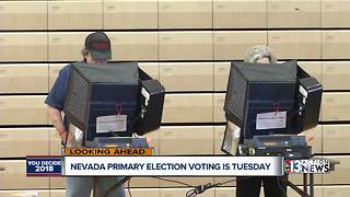 Nevada primary election voting is Tuesday
