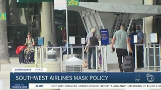 Southwest Airlines mask policy