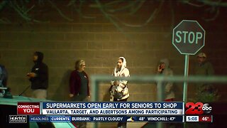 Supermarkets open early for seniors