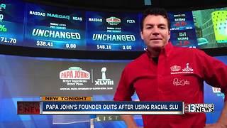 Papa John's founder quits after using racial slur