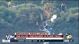 1 dead, 1 hurt in plane crash off SR-76 in Oceanside