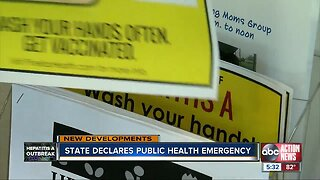 Florida Surgeon General issued Public Health Emergency in response to hepatitis A outbreak