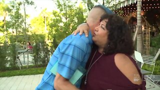 Former Marine beats cancer, makes new friends