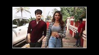 Urvashi Rautela and Mohsin Khan Snapped in Bandra   SpotboyE