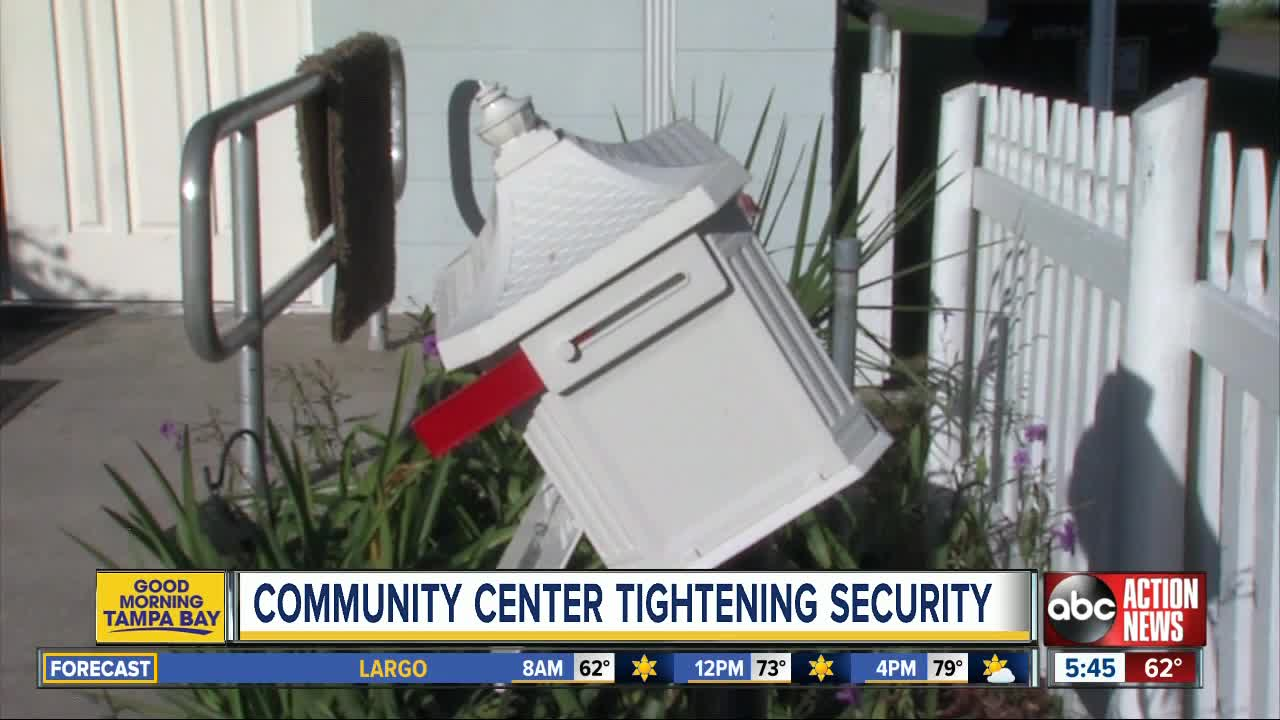 Residents clean up after vandalism at community center