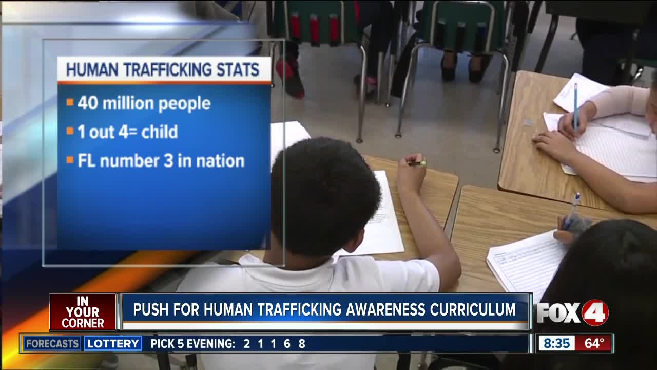 Human trafficking to be incorporated into curriculum at Florida schools