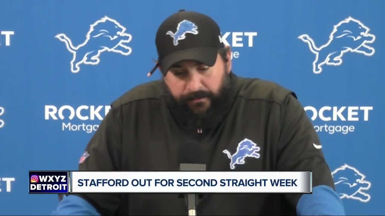 Stafford to miss second straight week