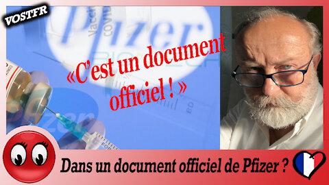 (VOSTFR) Dans un document officiel de Pfizer ?