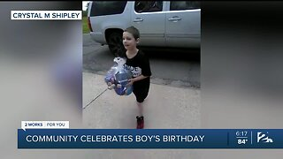 Coweta community gives local boy with autism an unforgettable birthday surprise