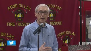 Governor Evers tours areas impacted by recent flooding
