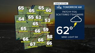 Mostly cloudy with showers likely Thursday