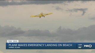 Plane makes emergency landing on Sanibel Beach