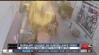 Burglary caught on surveillance video
