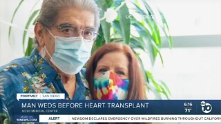 Man gets married before heart transplant