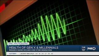 Study shows health decline in Gen X and Gen Y