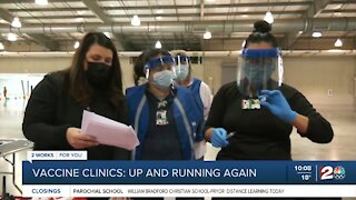 Vaccine clinics up and running again