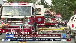 Firefighter injured as crews knock out multi-house fire in Parkville