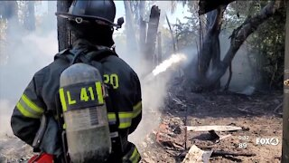 Crews battle house fire in Estero, without fire hydrant