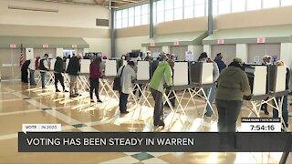 Voting steady in Warren