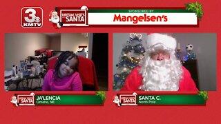 Virtual Santa visit with Ja'Lencia