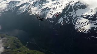 Epic Skydiving Footage Through Norwegian Fjord