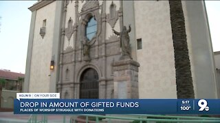 Local effect of donations being down nationwide for places of worship