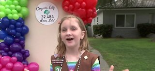 8-year-old cancer survivor breaks record for sold Girl Scout Cookies