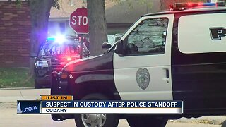 Suspect in custody after police standoff in Cudahy