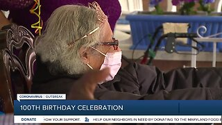 Friends and family gather to celebrate woman's 100th birthday