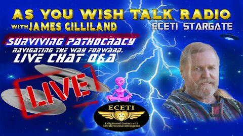 James Gilliland - As You Wish Talk Radio LIVE - Surviving Pathocracy