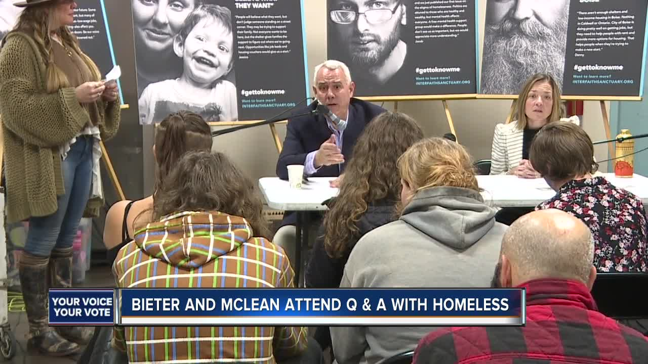 Mayoral candidates attend Q&A with Boise's homeless
