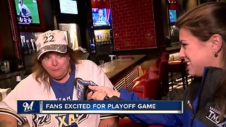 """""""We are going to win on Tuesday"""": Brewers fans look forward to Wild Card Game"""