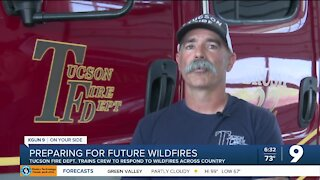 Tucson Fire Department trains crew to fight future wildfires